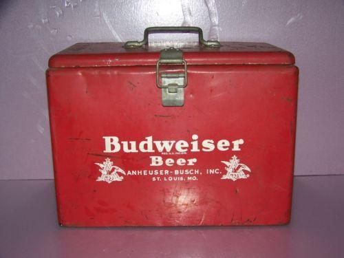 Antique Budweiser Beer Cooler Anheuser Busch Vintage 1950's