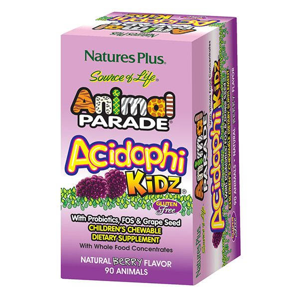 Animal Parade® AcidophiKidz® Children's Chewables - Berry ...