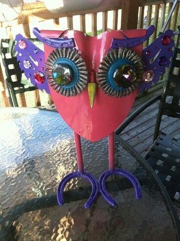 Owl shovel yard art