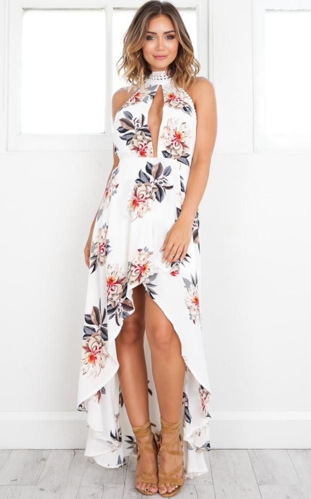 e825fe338524f Floral Halter Backless Maxi Sundress in 2019 | Floral Collection ...