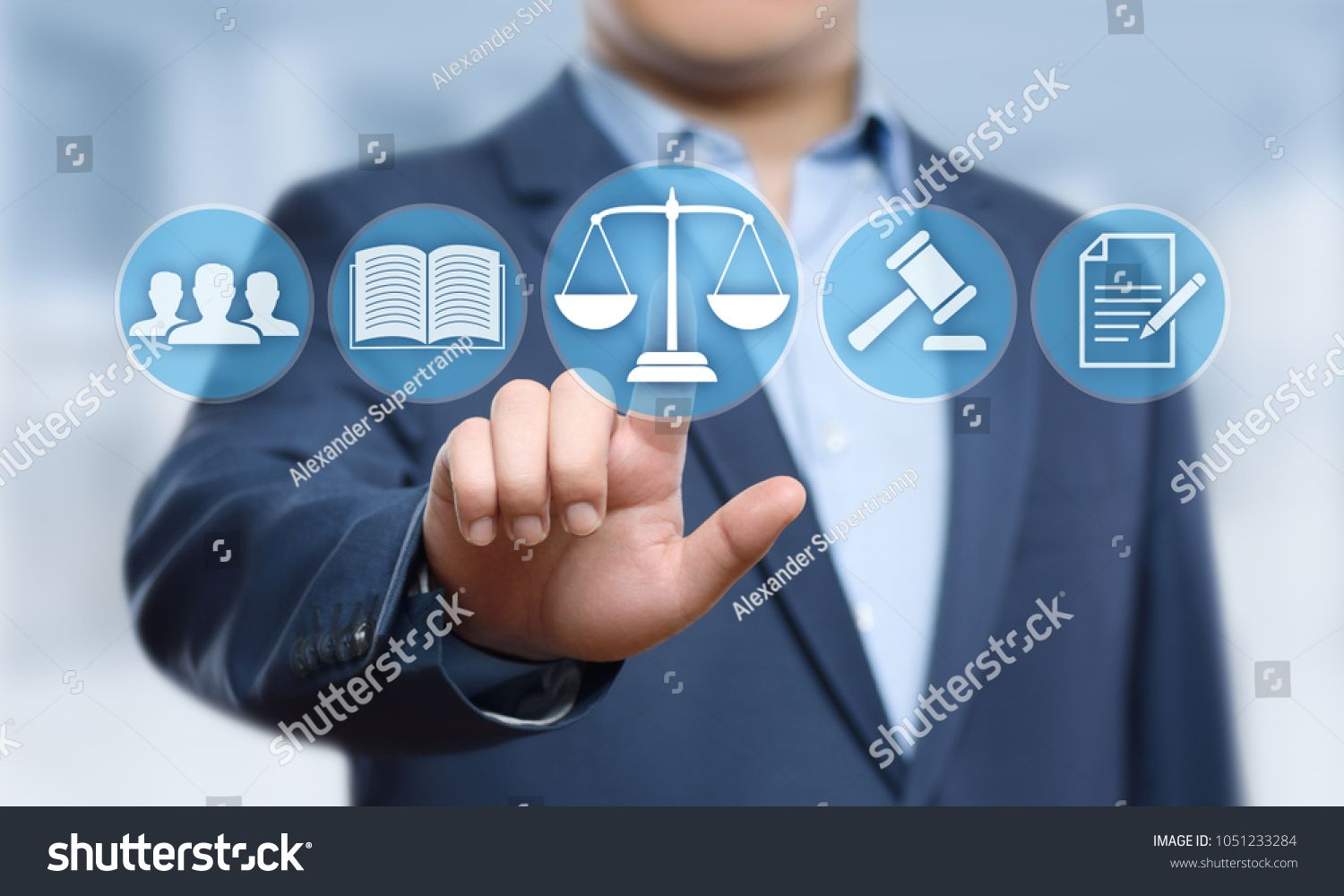 Labor Law Lawyer Legal Business Internet Technology Concept Ad
