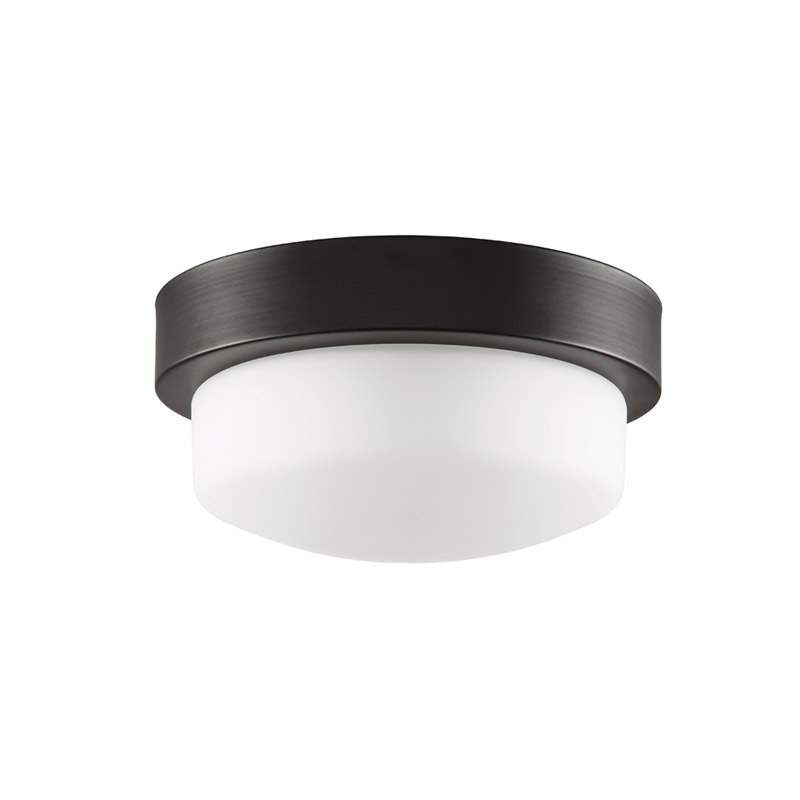 Park harbor phfl4071 11 wide single light flush mount ceiling fixture oil rubbed bronze indoor