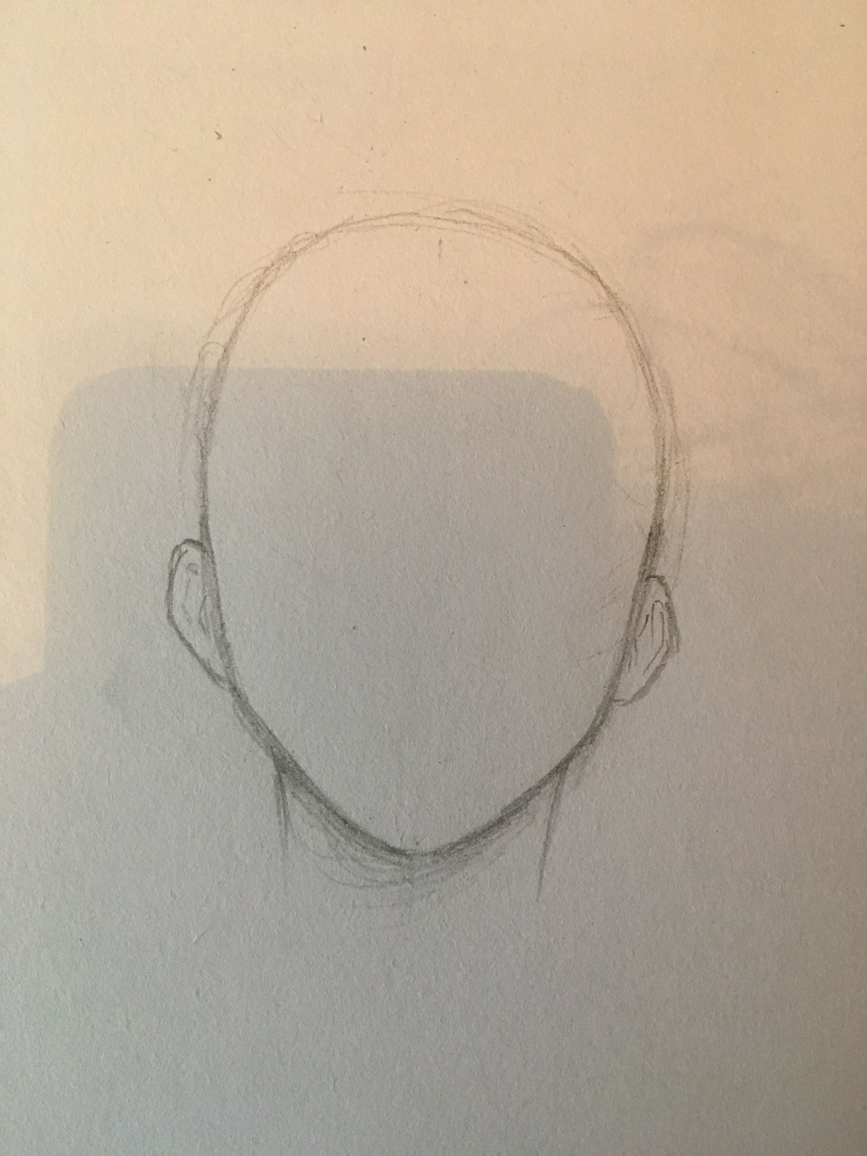 Basic Front Anime Head Shape For Anatomy Anime Head Shapes Drawing Heads Drawings