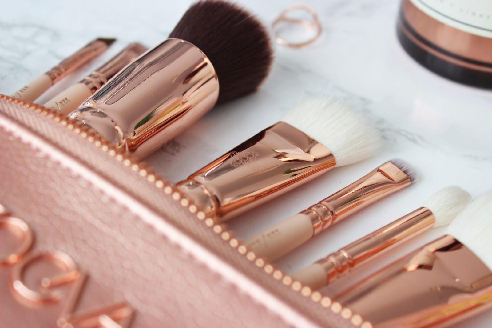 NEW ZOEVA ROSE GOLD MAKEUP BRUSHES Rose gold makeup