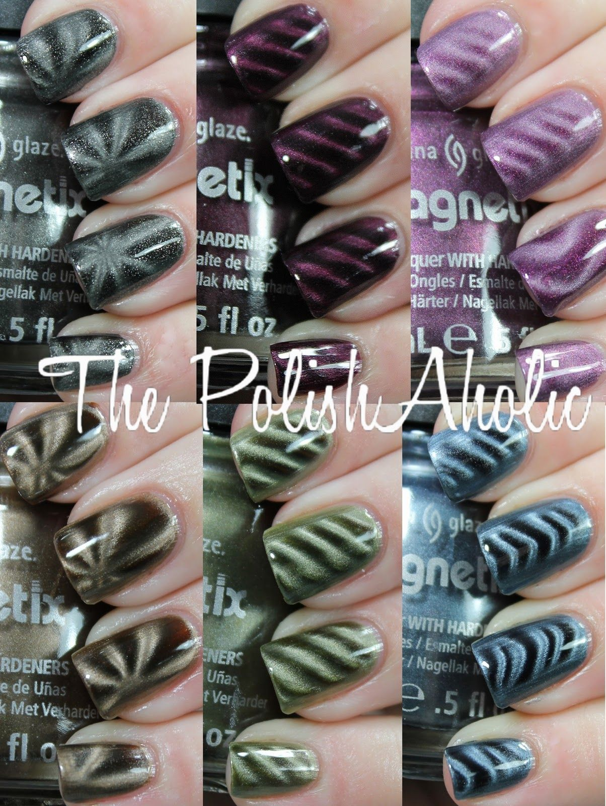 The PolishAholic: China Glaze Magnetix Collection Swatches | Nails ...