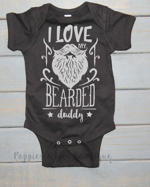 b01de19306d1b Bearded Daddy Bodysuit, Funny Baby Clothing, Unisex Kids' Shirt, Baby  Shower Gift, Father's Day Gift