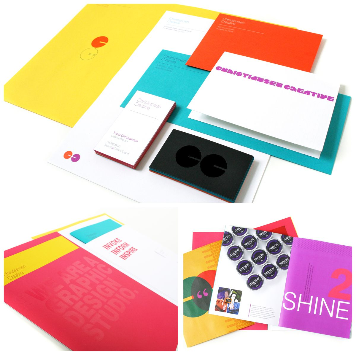 New brand identity materials for Christiansen Creative in