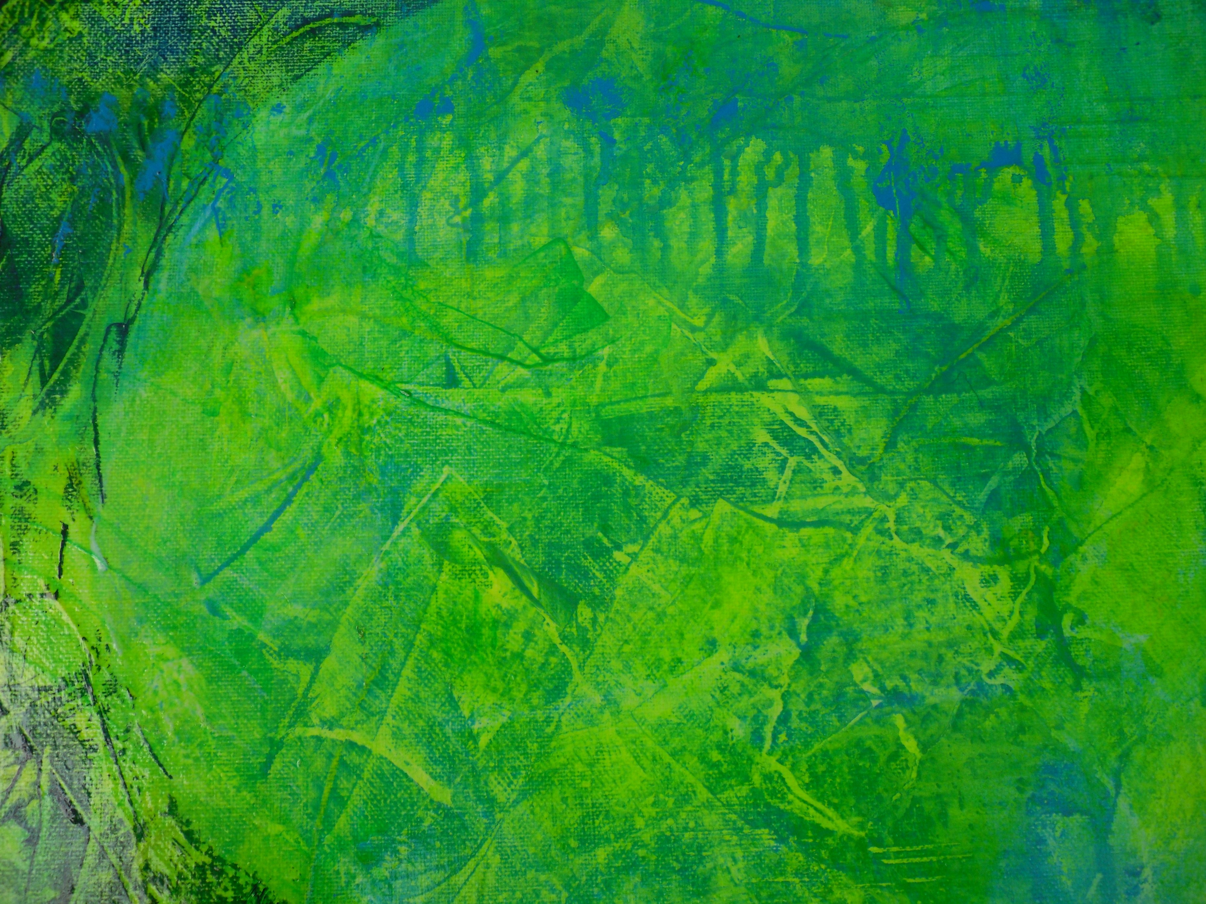 fractured landscapes, a small section of a larger painting.