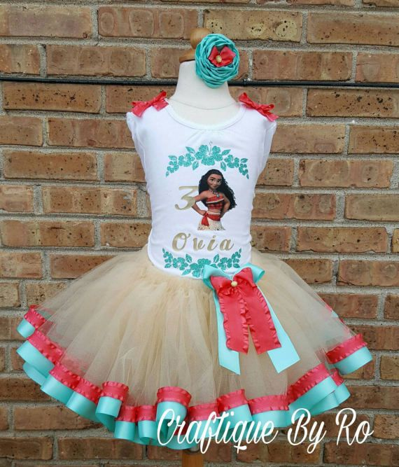 3fbfae454 Hawaiian Tutu Set - Moana Costume - Birthday Outfit - Birthday Tutu ...