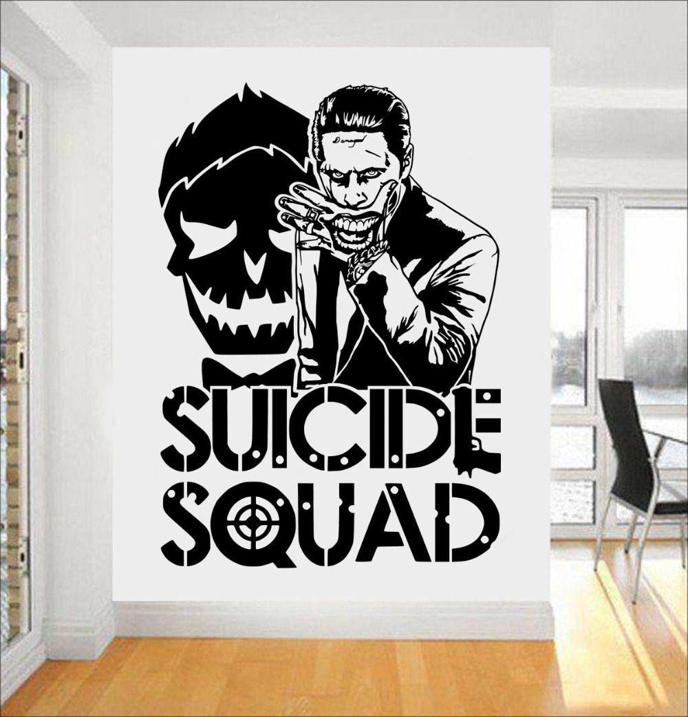 Joker Suicide Squad Wall Art Sticker Fashion Design Wall Stickers