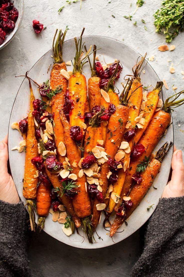 Photo of Arce zanahorias asadas con arándanos – Lazy Cat Kitchen