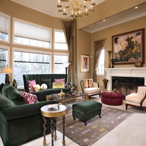 Pin By Tricia Bowles On Houzz Living Room Green Blue Living Room Burgundy Sofas