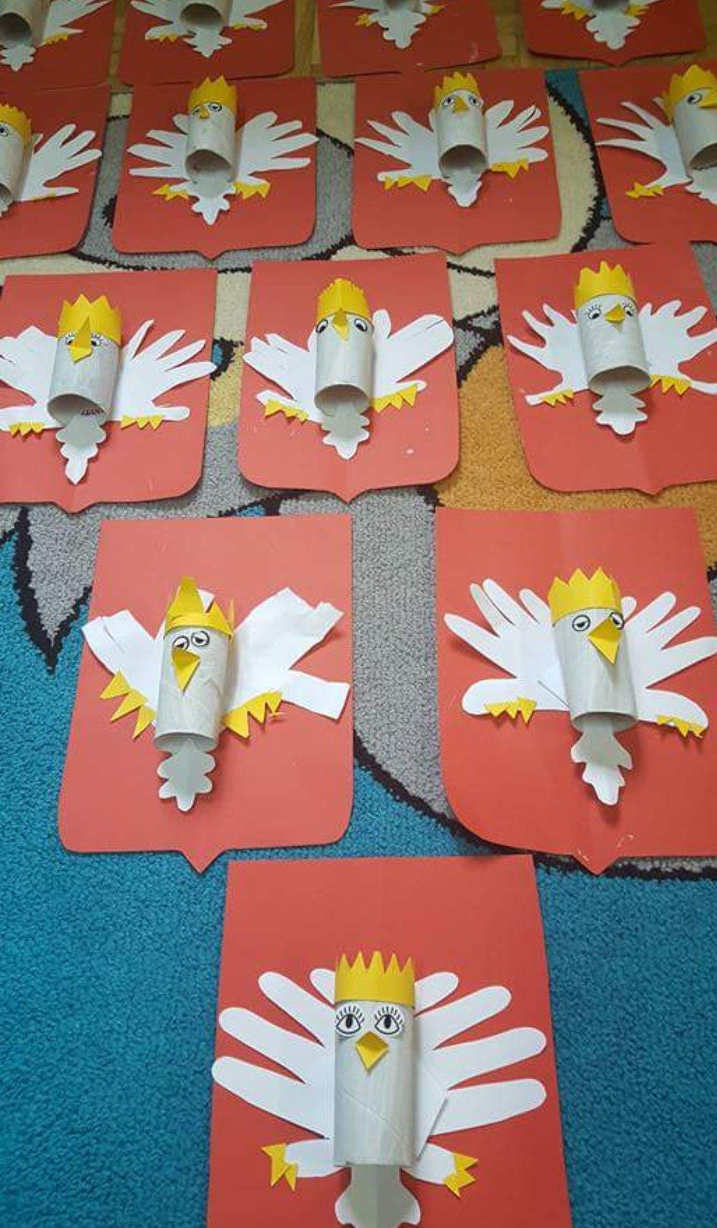 Godlo Polski Spring Crafts For Kids Valentine Crafts For Kids Art For Kids