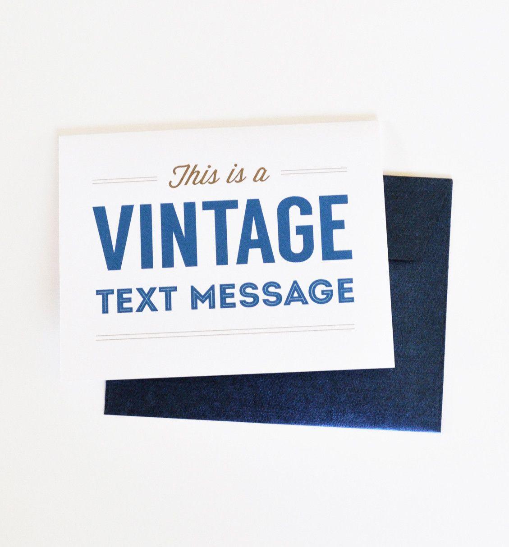 Vintage Text Message Greeting Card Vintagegreetingcards Vintage