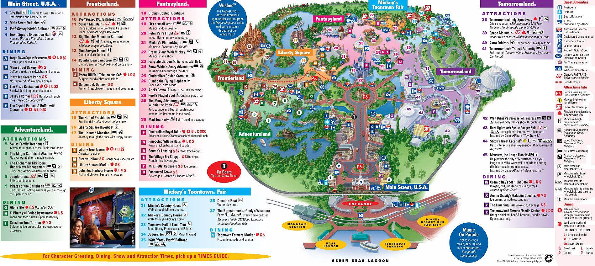 Walt Disney World Magic Kingdom Map Pin by Kathy Goldstein on Disney Trip | Magic kingdom, Disney  Walt Disney World Magic Kingdom Map