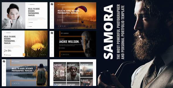 Samora - Personal Portfolio & Photography Template