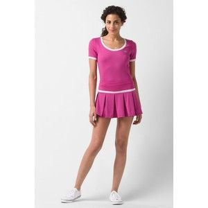 Lacoste Pleated Technical Pique Skirt With Built In Short