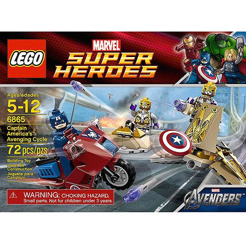 RETIRED NEW 6865 LEGO Super Heroes Captain America/'s Avenging Cycle