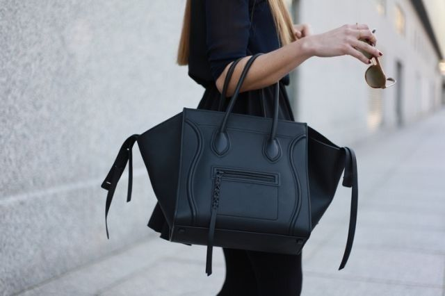 ca843b439894 DREAM BAG!!!! matte black  bag    Phantom by  Celine