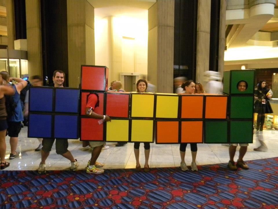 Easy group costume idea. Saw these guys at Dragon*Con last