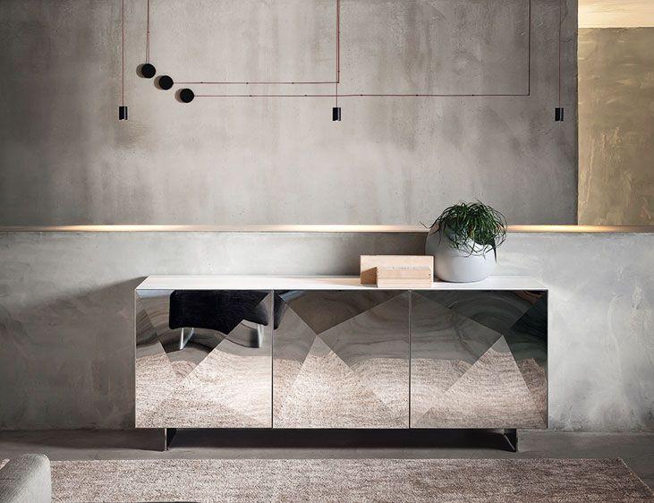 Credenza Per Cucina Palermo : Credenza cubric riflessi furniture arredamento acciaio e salotto