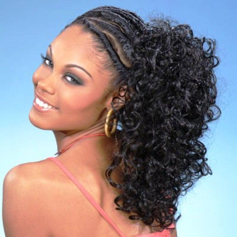 Wedding Juda Hairstyle Step By Step: Cornrow-ponytail-hairstyles-Really Nice !