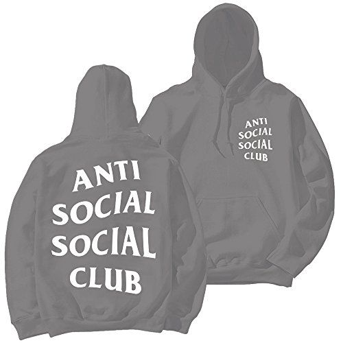 Anti Social Social Club Unisex Hoodie Grey See This Great Product This Is An Amazon Affiliate Link And Unisex Hoodies Grey Hoodie Anti Social Social Club