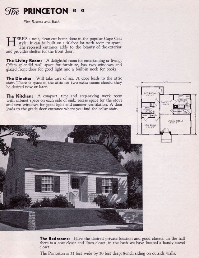 Perfect For When I Downsize In A Few Years Vintage Cape Cod Home Cape Cod Style House Cape Cod Vintage House Plans