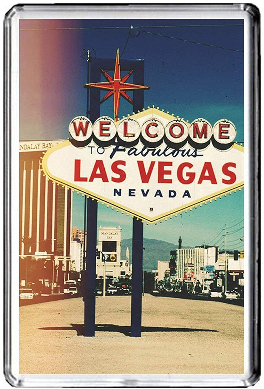 B435 LAS VEGAS USA AIMANT POUR LE FRIGO USA VINTAGE TRAVEL PHOTO REFRIGERATOR MAGNET