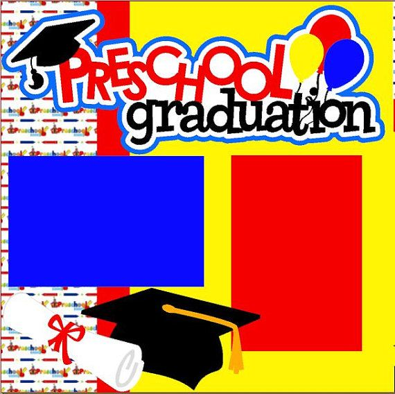 Scrapbook Page Kit Preschool Graduation Premade Sc