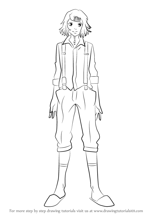 How To Draw Juuzou Suzuya From Tokyo Ghoul Drawingtutorials101 Com Juuzou Suzuya Tokyo Ghoul Drawings