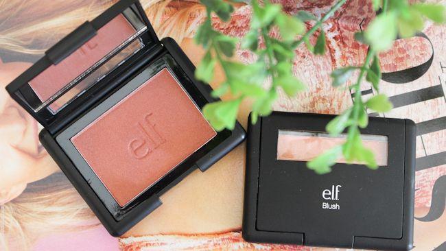 resenha blush #30215 e #30923 da Elf Blusing Rose e Twinkle Pink borboletas na carteira