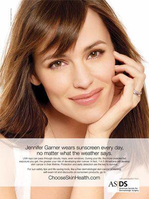 Jennifer Garner for ASDS & Neutrogena 2013