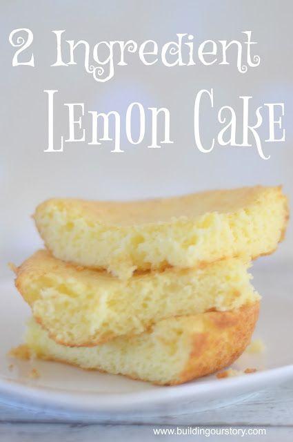 2 Ingredient Lemon Cake {Light} | desserts | Dessert recipes