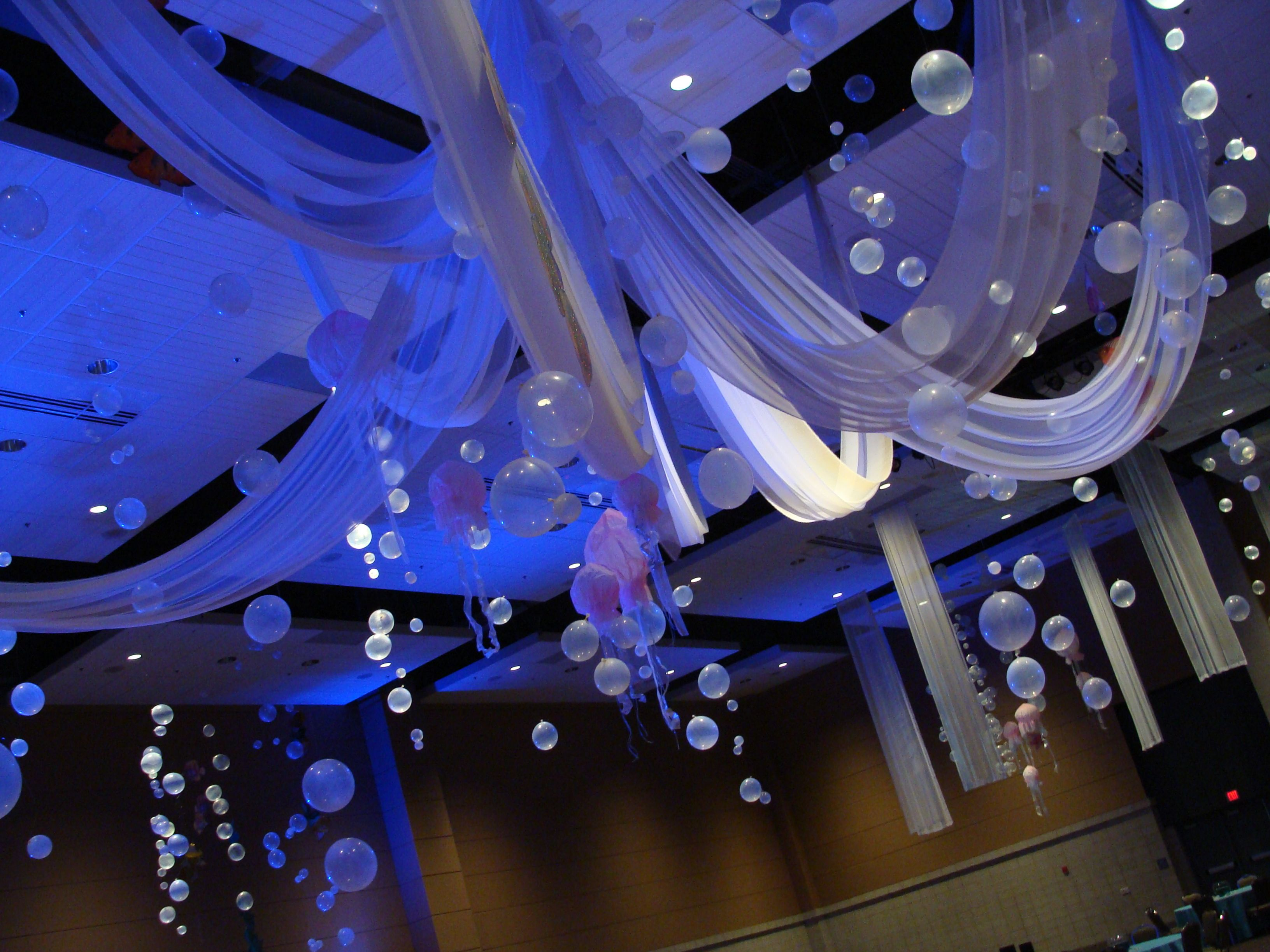 underwater theme. lots of bubbles! in 2019   prom decor