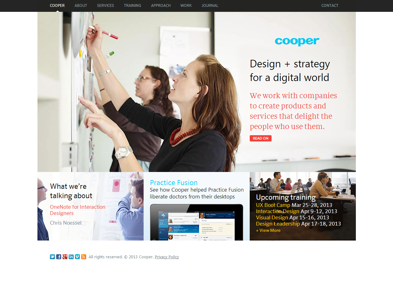 Single Page Layout Web Design Transformative Learning Design