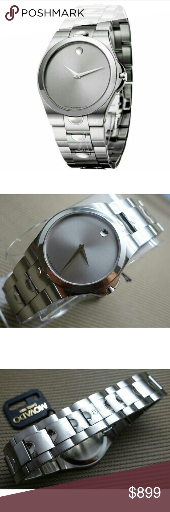 watches movado i luno tradesy steel mens watch stainless