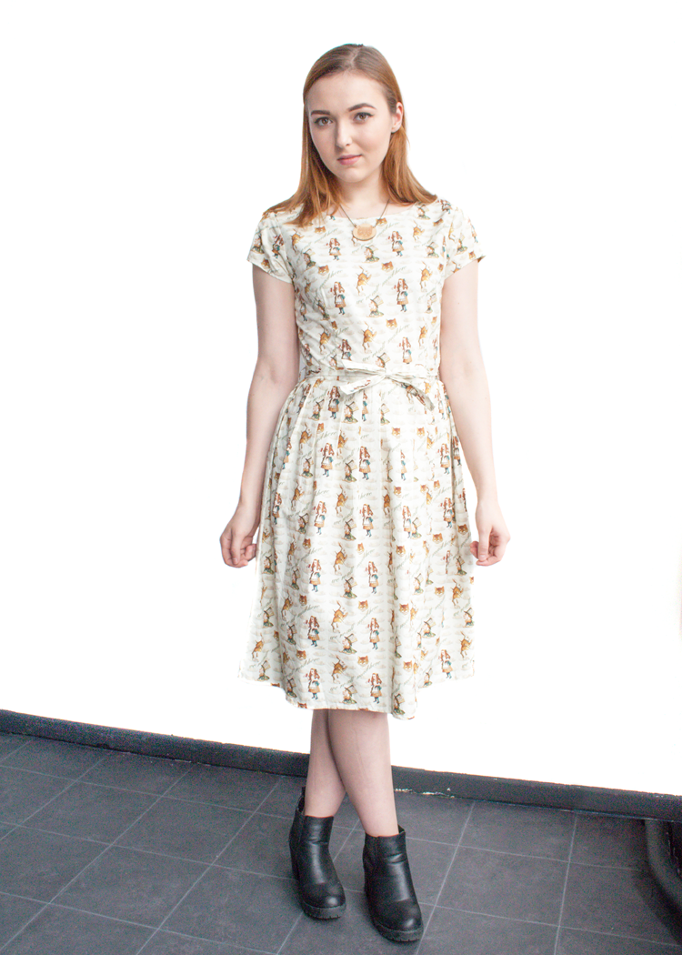 Beautiful Alice in Wonderland print dress by Run & Fly. Features ...
