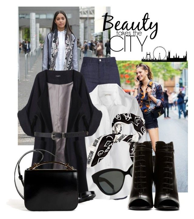 """""""belt and scarves"""" by black-eclipse-red-sky ❤ liked on Polyvore featuring Moschino, Linda Farrow, Merci Me London, Yves Saint Laurent, Givenchy and Forever 21"""