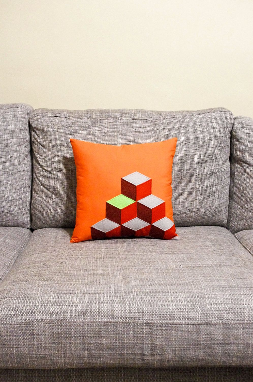 Q Bert Geometric Decorative Pillow - Father's Day. $55.00, via Etsy.