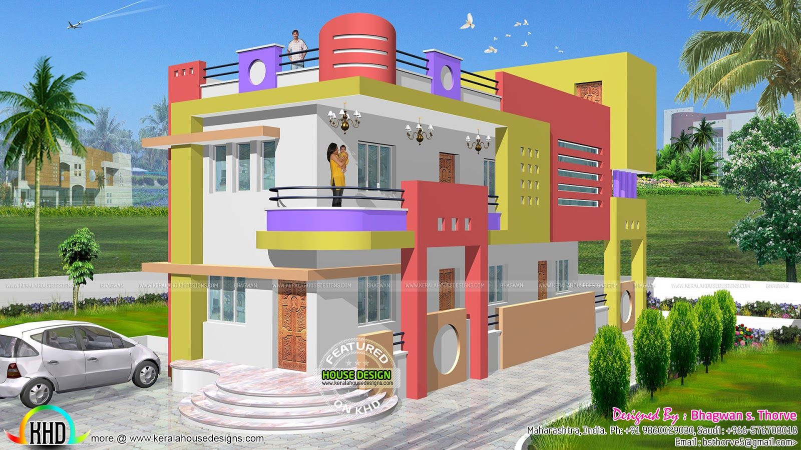 1600 sq ft colorful north indian home