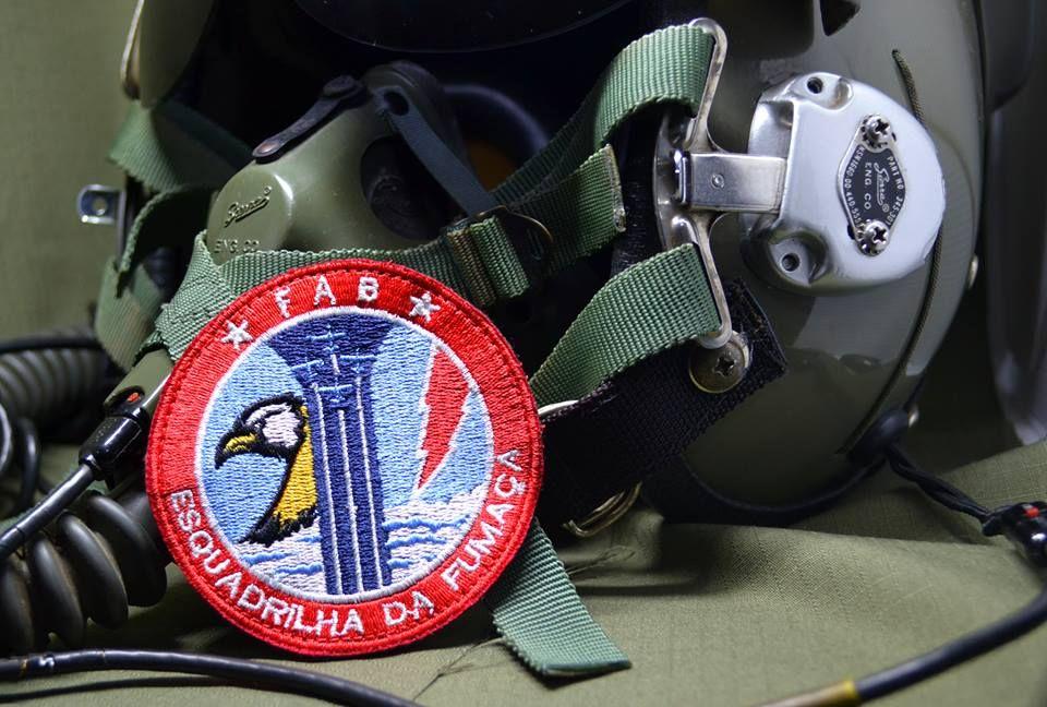 Patch Aeronáutica Bolacha Bordada Esquadrilha da Fumaça Força Aérea  Brasileira 40a74809615