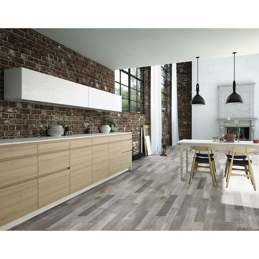 Shop style selections kaden reclaimed glazed porcelain for Indoor outdoor wood flooring