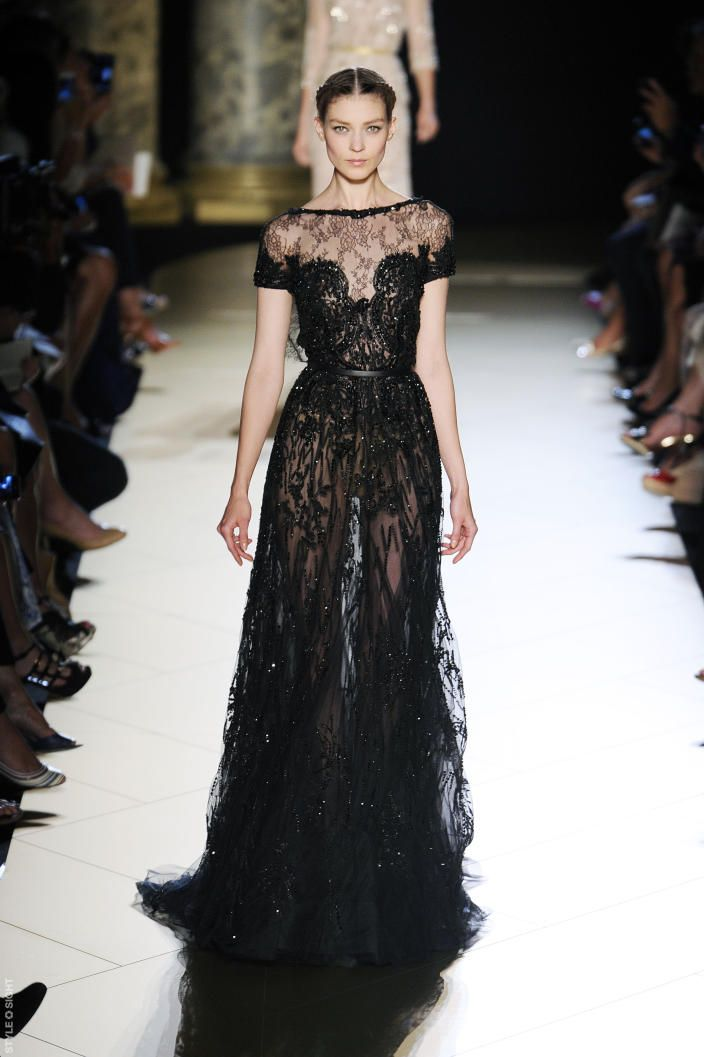 Elie Saab Haute Couture Fall/Winter 2012 - Brilliantly dramatic