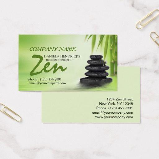 Conception Tranquille De Therapeute Massage Cartes Visite