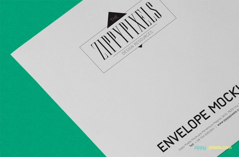 On the fly design replacement Free Envelope Mockup PSD by - free isometric paper