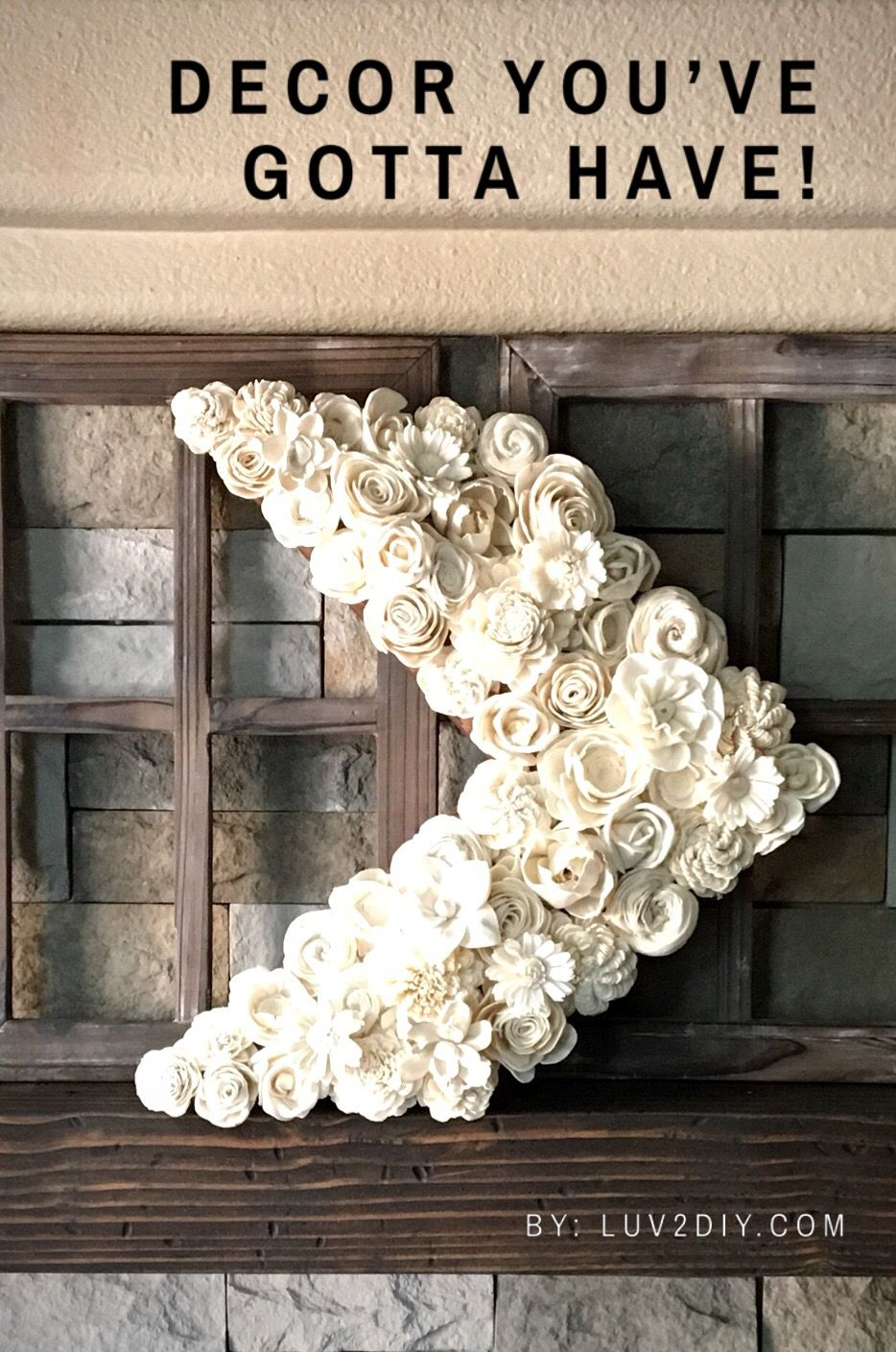 Chevron decor ivory flowers diy kits Wood Flower Bouquets