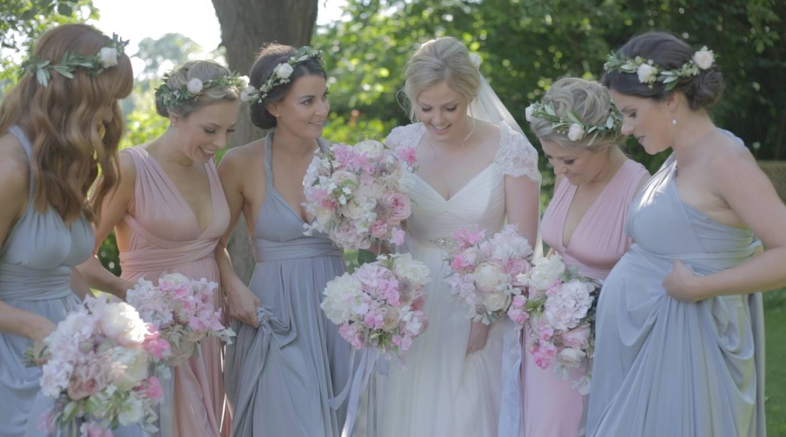 Pink multiway bridesmaid dress  Beautiful multiway bridesmaid dresses from TwoBirds Rose and