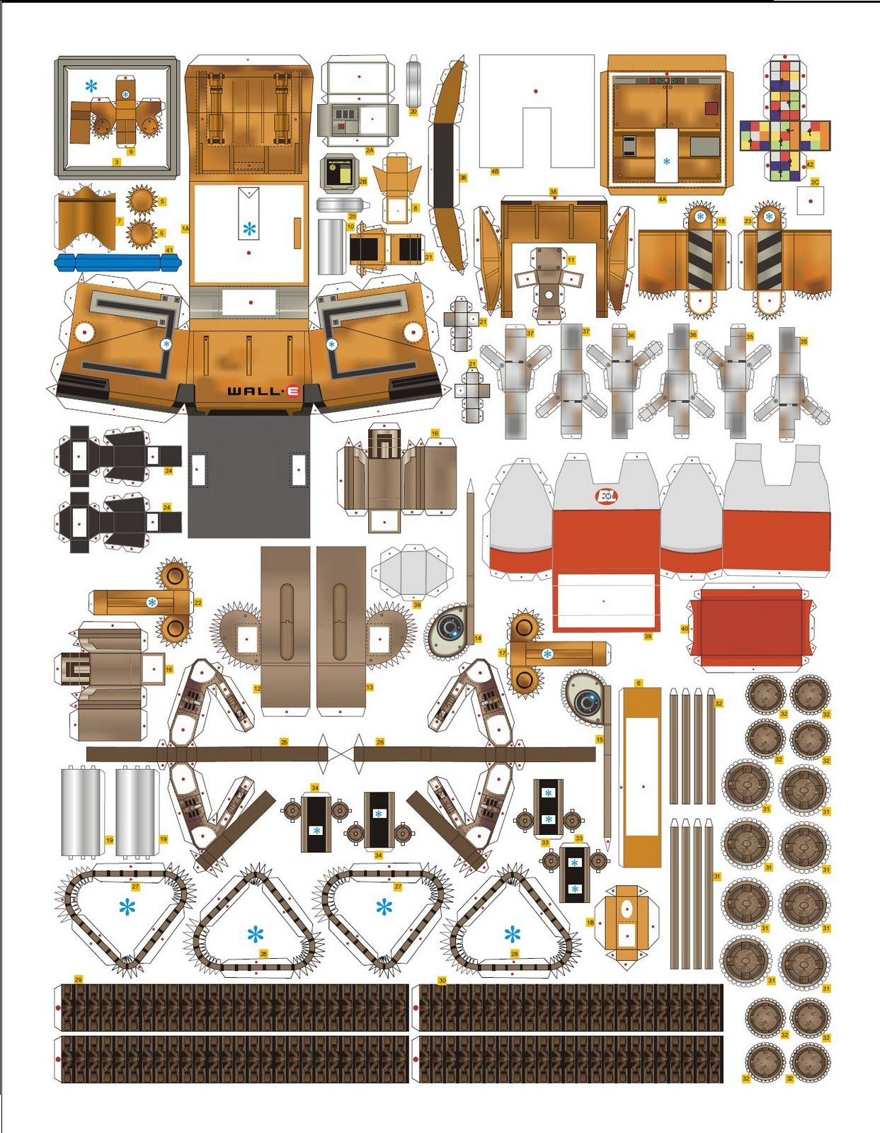 Wall E Paper Craft For Expert Only