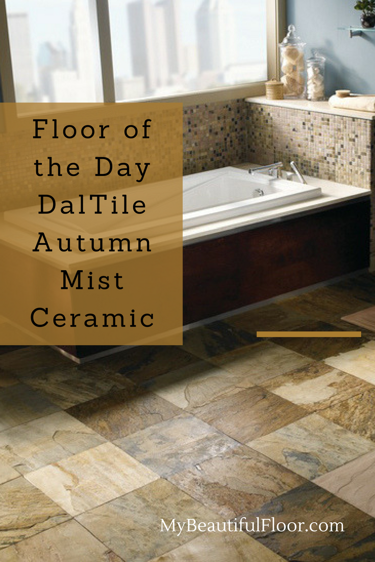The Beauty Of Slate But In Ceramic Tile Floor Day Daltile Autumn Mist